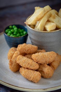 Whitby Scampi & Chips with mushy peas, tartare sauce, hand-cut chips & a wedge of lemon Scampi And Chips, Mushy Peas, Gin Bar, Lemon Wedge, Farm Shop, Tasty Dishes, Menu, Restaurant, Breakfast