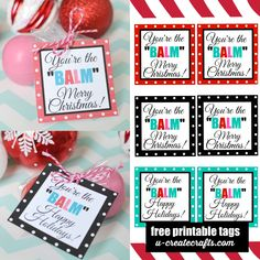 Many of you have asked me to create a Christmas version of my – You're the BALM – printables and...