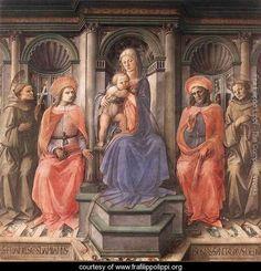 Madonna Enthroned with Saints c. 1445 - Fra Filippo Lippi - www.frafilippolippi.org
