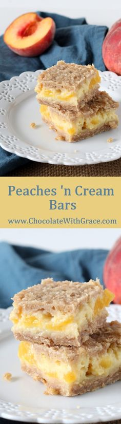 Peaches and Cream Bars - Chocolate with Grace