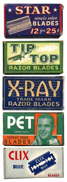 vintage razor blade packaging #athomewithSA