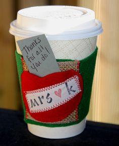 Teacher Gift  Leave a Note  Coffee Cozie  Coffee Cozy  by LiamLane