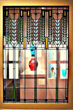 Beautiful Stained Glass Window Designed By Frank Lloyd Wright Jr