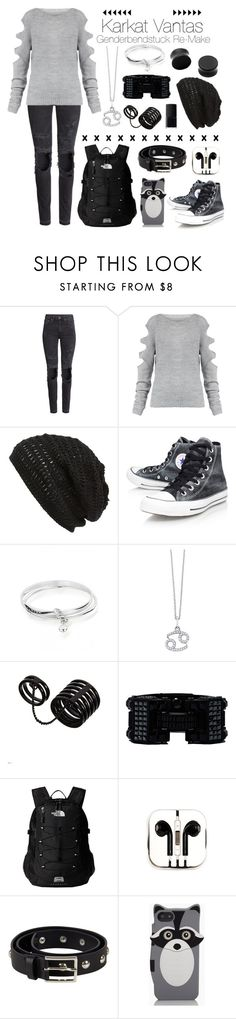 """""""¤ Karkat Vantas : Homestuck Genderbendstuck ¤"""" by nerdangels ❤ liked on Polyvore featuring H&M, King & Fifth Supply Co., Converse, ChloBo, KC Designs, ASOS, Lanvin, The North Face, PhunkeeTree and Designers Remix"""