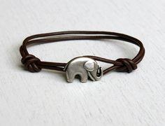 The only bracelet i want... Elephant Leather  Bracelet (11 colors to choose). $13.50, via Etsy.