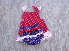 Red White & Blue Swing Top Set Newborn by FrogsandChicks on Etsy, $22.00