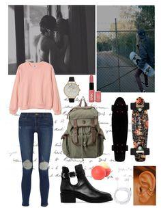 """""""With you"""" by raysworldx ❤ liked on Polyvore featuring Frame, MANGO, dELiA*s, Forever New and Olivia Burton"""
