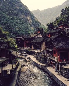 A Miao village, Hunan province, China