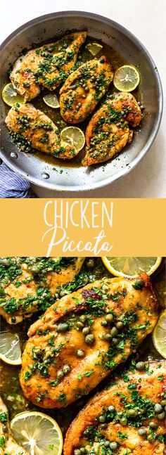 Easy Chicken Piccata Recipe | Italian recipes | chicken breast recipes | quick dinner recipes | healthy recipes | olive garden copycat | stovetop recipes | one pan recipes | with lemon sauce Classic Chicken Recipe, Italian Chicken Recipes, Easy Chicken Recipes, Turkey Recipes, Fancy Dinner Recipes, Supper Recipes, Healthy Dinner Recipes, Delicious Recipes, Lemon Recipes