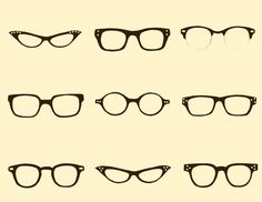 glasses fabric by spoonflower. love this idea! how simple.