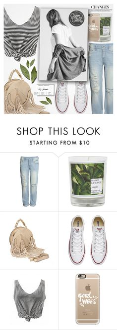 """♠ Good Vibes Only"" by paty ❤ liked on Polyvore featuring H&M, Maison La Bougie, Converse and Casetify"