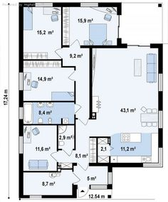 5+1 / 1 House Layout Plans, My House Plans, Small House Plans, House Layouts, House Floor Design, Indian House Plans, Indian Homes, Facade House, My Dream Home