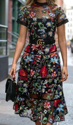 #Gucci #Black #Floral #Dress #Dresses #PartyDress #EveningWear #Wedding