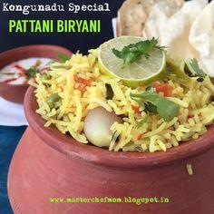MASTERCHEFMOM: Kongunadu Special PATTANI BIRYANI | Green Peas Biryani from Kongunadu|How to make Green Peas Biryani