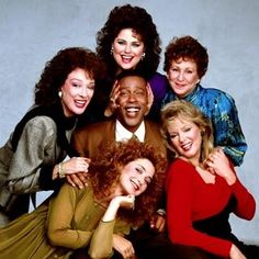"""The whole cast of """"Designing Women""""...including Anthony. He was definitely a Rockin' Lady."""