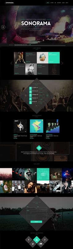 'Sonorama' is a one page WordPress theme perfect for any artist or band to showcase their style and material to their fans. The theme has music related options for embedding audio/video, setting tour dates and adding discography. Bonus items include a video background option, 16 predefined color schemes including light or dark and the template also comes with the PSD files. A solid offering!