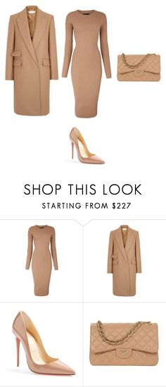 """Untitled #650"" by kalovna-ketsia-edmond ❤ liked on Polyvore featuring Karen Millen, STELLA McCARTNEY, Christian Louboutin and Chanel"