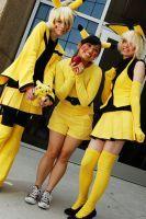 Pikachu (Pokemon) cosplay with Malinda-chan also as Pikachu and Jenjenplum as Pichu.