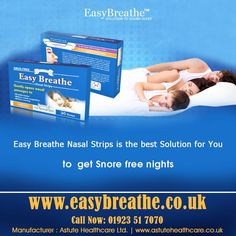 Easy Breathe #Nasal #Strips is the best #solution for you to get #Snore free #nights .