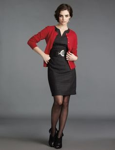 The red cardigan topper.