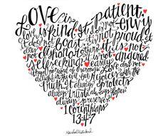 Love's Heart  1 Corinthians 13:4-7