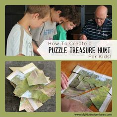 Learn how to put together a puzzle treasure hunt that will send your family on a search for clues through the house or around the neighborho...