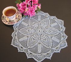 Michele crocheted doily  (Patricia Kristofferson design)
