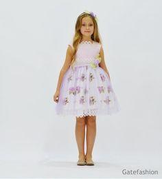 Платье для девочки от 5 до 9 лет +ободок GFL-16065V