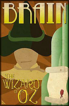 Wizard of Oz Scarecrow Deco Poster Design