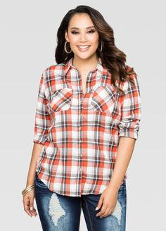 233bfa383 Plaid Two Pocket Shirt Plaid Two Pocket Shirt Plus Size Shirts