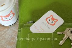 """Free Printable """"You're Foxy"""" Valentine's Love Note Coffee Cup Wrap & @ Love That Party"""