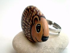 hedgehog ring - cool