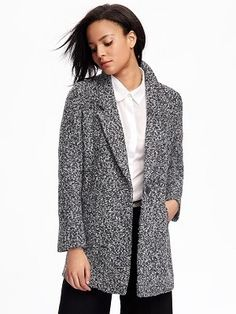 Old Navy Wool-Blend Everyday Coat For Women - Jackets You Need to Boost Your Winter Wardrobe - Photos