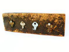 Rustic Key Holder  Repurposed Barn Wood Salvaged by ArtiesPlace, $18.00