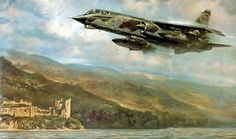 TSR 2 on exercise over Scotland, by Ronald Wong.                                                                                                                                                                                 More