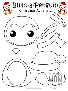 Looking for a fun and easy Christmas penguin craft your preschoolers and kindergarten kids to make in the classroom? This penguin craft makes perfect greeting. Free Christmas Printables, Printable Crafts, Christmas Activities, Printable Templates, Christmas Worksheets, Free Printables, Christmas Crafts For Kids To Make, Xmas Crafts, Kids Christmas