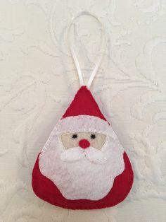 Felt crafts, felt ornament, Santa, Christmas, made by Janis