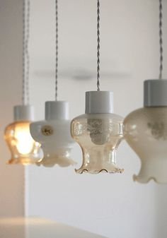 Vintage pendant light from www.bodieandfou.com