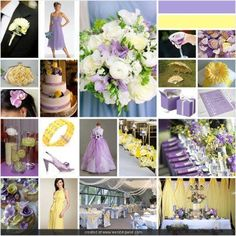Lavender and pale yellow. Perfect for a sweet springtime wedding ♥