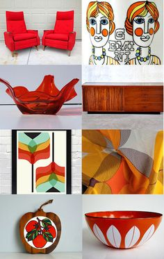 Inspuration | nake a Mid Century Modern board with textiles and accessories