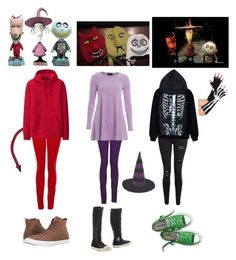 """Halloween costume idea #29 (Lock, Shock and Barrel - Nightmare Before Christmas)"" by shadow-cheshire ❤ liked on Polyvore featuring Paige Denim, Uniqlo, Frame Denim, Monkee Genes, AX Paris, Burton and Converse"