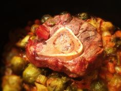 Grass Fed Beef Oso Bucco over Brussels Sprouts: 3/10/13