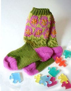 Spring Fever - one of my favorites from my collection of socks I have knitted.