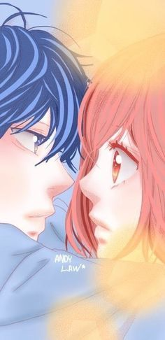 Kou and Futaba - Ao Haru Ride Anime Cupples, Chica Anime Manga, Fanarts Anime, Kawaii Anime, Anime Art, Manga Love, Anime Love, Ao Haru Ride Anime, Futaba Y Kou