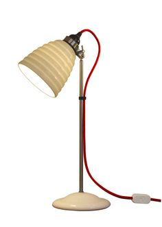 I Hector Bibendum red cord table lamp / Terence Conran Desk Lamp, Table Lamp, Shed Of The Year, Terence Conran, Old Boats, Light Table, Ideal Home, Bone China, Home And Living