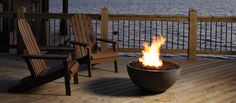 Marquis Collection by Kingsman Bola - Outdoor Gas Fire Bowl Outdoor Spaces, Outdoor Living, Outdoor Decor, Kingsman Fireplaces, Modern Fireplace, Outdoor Fireplaces, Gas Fireplaces, The Sound Of Waves, Fire Bowls