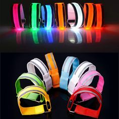 Men's Arm Warmers Creative Arm Glow Party Supplies Glow Bangle Reflective Led Light Arm Armband Strap Safety Belt For Night Running Cycling