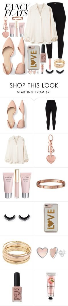 """""""fancy flats"""" by beingmyselfaf ❤ liked on Polyvore featuring The Row, Tory Burch, By Terry, Cartier, Edie Parker, Mudd, Kester Black, The Body Shop, Too Faced Cosmetics and chicflats"""
