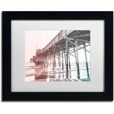 Trademark Fine Art 'Newport Pier MultiColor' Canvas Art by Ariane Moshayedi, White Matte, Black Frame, Size: 16 x 20, Multicolor