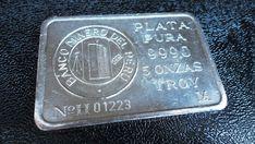 5 troy oz .999 Silver Coin Bullion Bar: Banco Minero DEL PERU- with serial